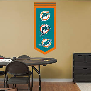 Miami Dolphins Logo Evolution Banner Fathead Wall Decal